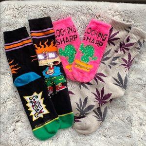 3 pack of funky novelty socks